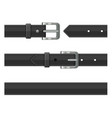 seamless black leather belts set vector image vector image