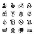 set business icons such as no smoking facts vector image vector image