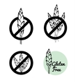 Set Of Four Gluten Free Symbols With Banned vector image