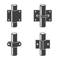 set of four icons - different types of pipe vector image vector image
