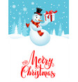 snowman holiday cartoons vector image vector image