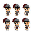 spartan cartoon idle game character animation vector image vector image