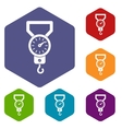 Spring scale icons set vector image vector image