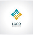 square decoration logo vector image vector image