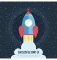Successful Start Up Cartoon Web Banner vector image vector image