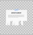 tear-off paper template advertisement template vector image vector image