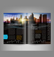 template print edition magazine with night vector image