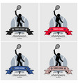 tennis league logo design artwork of tennis vector image vector image