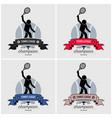 tennis league logo design artwork of vector image