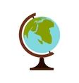 Terrestrial globe icon flat style vector image
