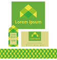 The emblem of the natural product vector image vector image