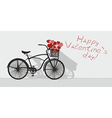 Valentines day and bicycle vector image vector image