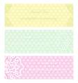 vintage flower pink green eps10 vector image