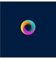 vortex logo helix emblem vector image