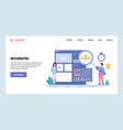 web site gradient design template seo vector image