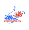 west virginia state 4th july independence day vector image vector image