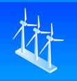 wind power plant icon isometric style vector image
