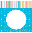 Greeting card for baby or child with pattern vector image