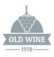 wine natural logo simple gray style vector image