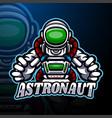 astronaut esport logo mascot design