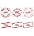 BBQ stamps vector image