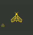 bee symbol geometrical bee icon isolated on a vector image vector image