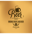 beer label background vector image vector image
