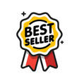 best seller badge best seller golden label retail vector image
