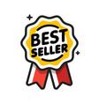 best seller badge seller golden label retail vector image
