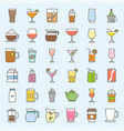 beverage and glass set vector image vector image