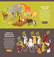 bible narratives horizontal banners vector image vector image