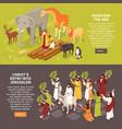 bible narratives horizontal banners vector image