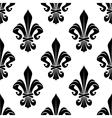 Black and white royal fleur-de-lis pattern vector image vector image