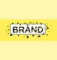 brand concept banner simple style vector image