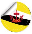 brunie flag design on round sticker vector image vector image