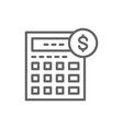 calculator bookkeeping accounting finances vector image vector image