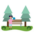 child girls avatar vector image