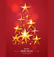 christmas and new years tree made of realistic vector image vector image