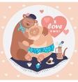 couple hugging bears vector image vector image