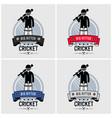 cricket club logo design artwork a batsman vector image