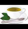 cup of mint tea vector image vector image