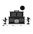 desert saloon icon simple style vector image
