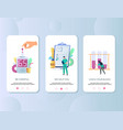 diabetes mobile app onboarding screens vector image vector image
