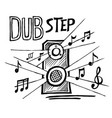 dubstep music style vector image vector image