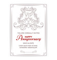 elegant vertical postcard in victorian style with vector image vector image