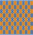 ethnic seamless pattern kente cloth tribal print vector image vector image