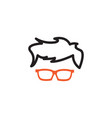 geek glasses graphic design template isolated vector image