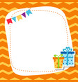 greeting card with birhday gift greeting card vector image