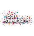 Happy birthday paper background vector image vector image