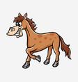horse cartoon character vector image vector image